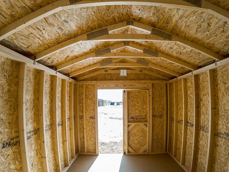 Quaker shed inside