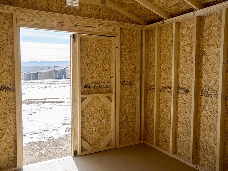 a frame shed interior