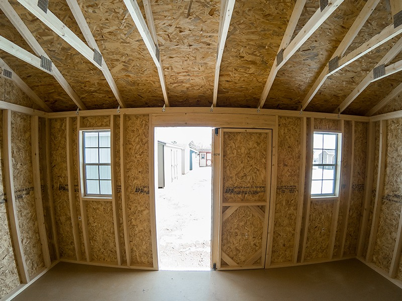 Interior A Frame Shed