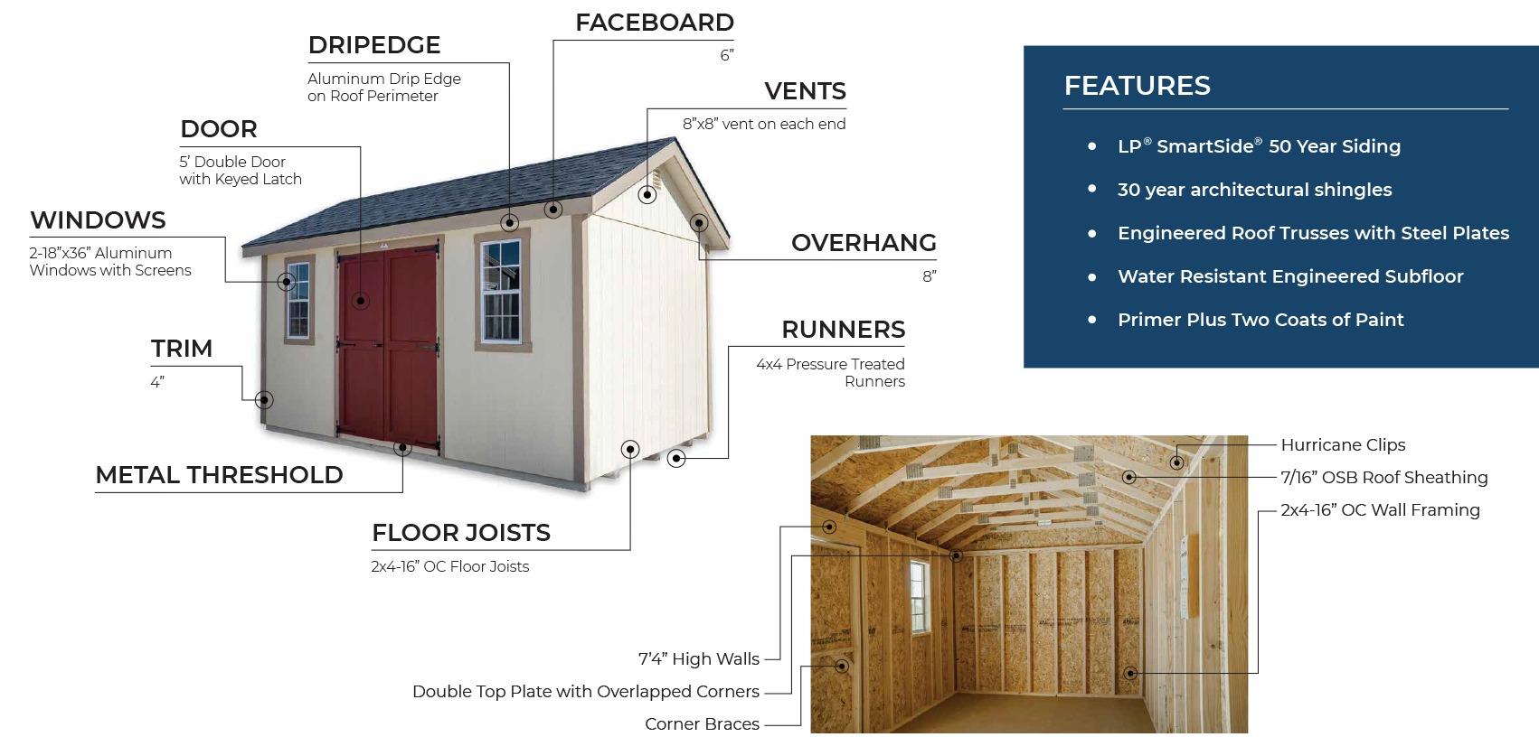mini barn shed 10x20