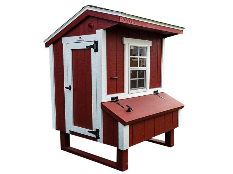 mini chicken coop side view