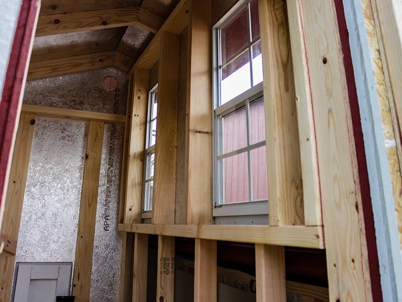 custom shed windows