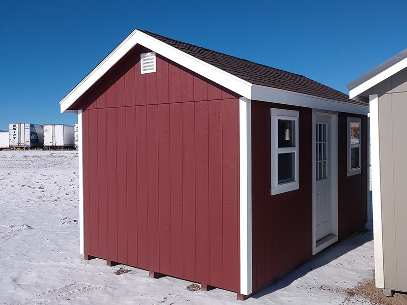 classic a frame shed with door and windows