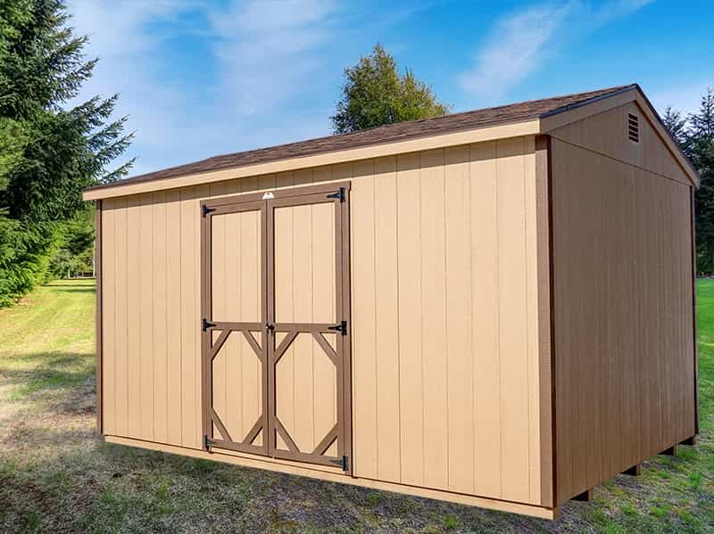 A Frame Quaker Shed tan