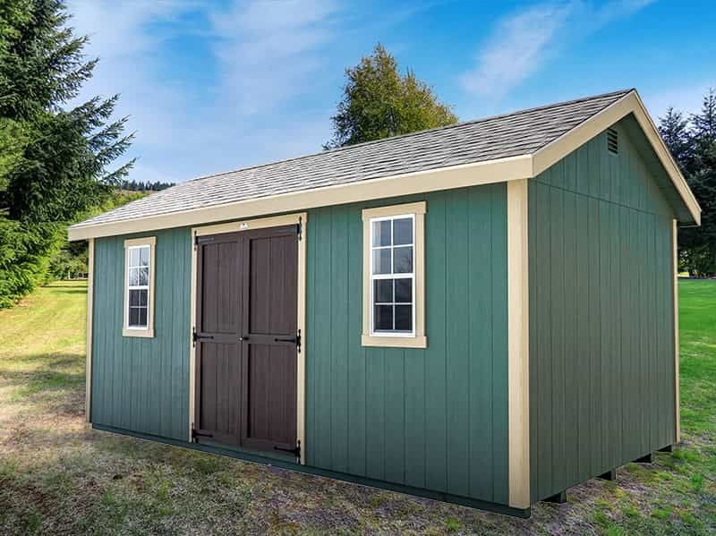 Classic quaker shed green