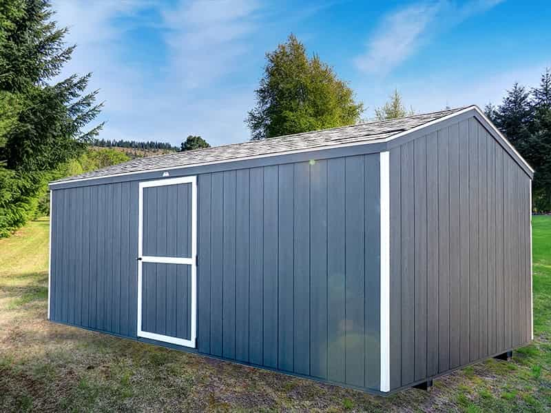 Dark Gray economy shed
