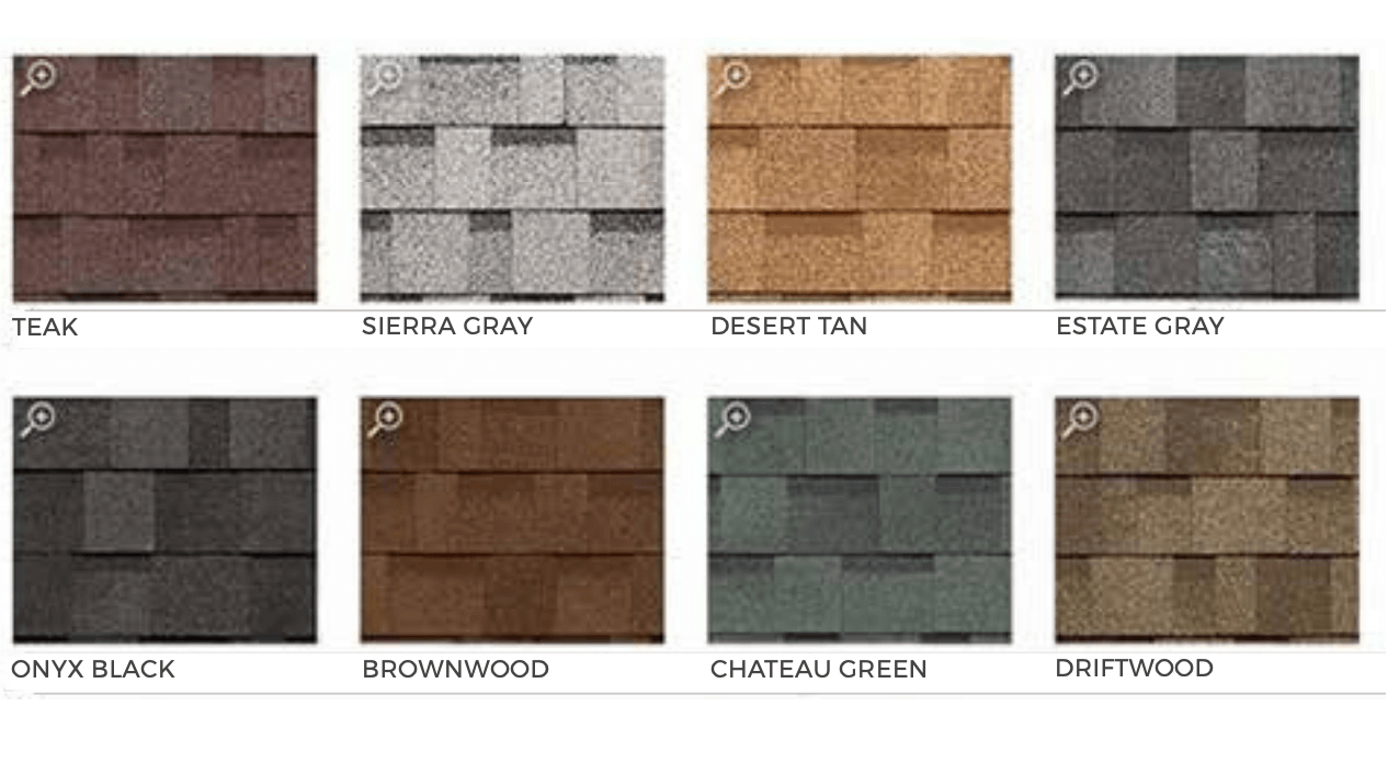 Color Guide Shingles